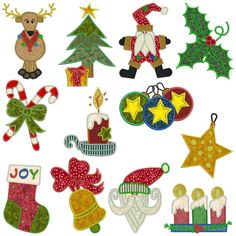 CHRISTMAS 1 - Machine Applique Embroidery - Machine Embroidery Design for sale at http://www.southerncrossembroidery.com/market/christmas-1-machine-applique-embroidery/