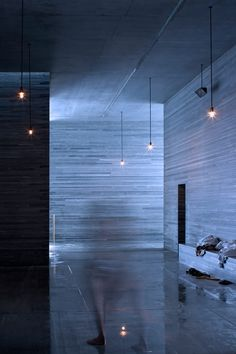 Image 43 of 49 from gallery of Peter Zumthor's Therme Vals Through the Lens of Fernando Guerra. Photograph by Fernando Guerra Ancient Architecture, Sustainable Architecture, Contemporary Architecture, Architecture Design, Landscape Architecture, Therme Vals, Bath Photography, London Design Festival, Italian Lighting