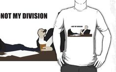 Not My Division - DI Lestrade (black text) by cyaxares
