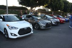 Our PR team visited Cars and Coffee in Irvine, CA with two prototype Veloster Turbos