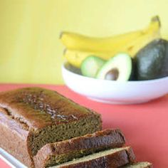 Avocado banana bread. // Sub healthy fats in place of butter.