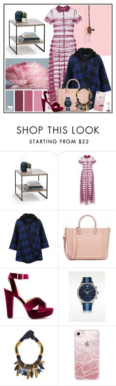 """""""Lightbulb"""" by cherieaustin on Polyvore featuring RED Valentino, WearAll, Raye, Emporio Armani, Lizzie Fortunato, Casetify and Delfina Delettrez"""