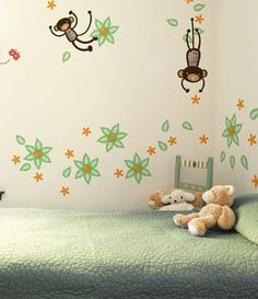 Liapela Modern Baby :: Decor & More :: Wall Decals :: Mango Tree Monkey Wall Graphics