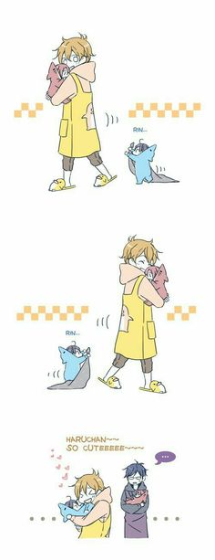 "Haru is like ""NO nagisa NO"""