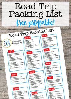 It is so much easier to start with a master family road trip packing list printable and then just add on items specific to that trip! Because when you are planning a family road trip, it can be hard to remember everything that you want to take along. Road Trip Checklist, Road Trip Planner, Packing List For Vacation, Road Trip Essentials, Road Trip Hacks, Travel Checklist, Travel Packing, Packing Lists, Travel Tips