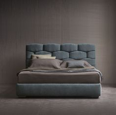 Majal #bed - #Design Carlo Colombo  Collezione Flou 2015 -www.flou.it/... -Flou Collection 2015 - A majestic double-size #bed that concentrates and exalts the textile soul of Flou. Textiles predominate in the geometric shapes of the large soft headboard, that can be easily imaginable as a modern boiserie.  #bed #letto #letti #carlocolombo #flou