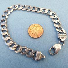 Heavy Sterling Silver Men's Bracelet Made In Italy!