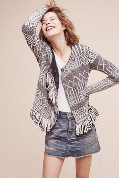 Fringed Architecture Sweater #anthropologie
