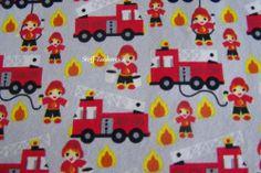 Kinder Baumwolljersey Jersey Feuerwehr Auto Flammen Feuerwehrauto COUPON