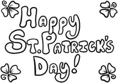 Greeting Cards St Patrick's Day Coloring Page For Kids Online Coloring Pages, Coloring Pages To Print, Free Printable Coloring Pages, Coloring For Kids, Coloring Pages For Kids, Coloring Books, Backdrop Decorations, Doodle Drawings, St Patricks Day