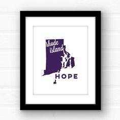 Rhode Island print  Rhode Island art  Rhode by PaperFinchDesign