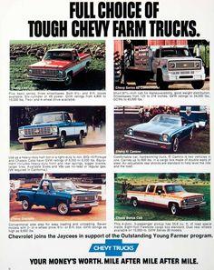 1975 Ad Chevy Chevrolet Pickup Truck Farming Engine Chassis Bonus Cab El SF4 - Period Paper - 4