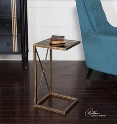 Uttermost Zafina Gold Side Table