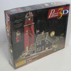 Wrebbit 3D Jigsaw Puzzle Charles Wysocki's Seaside Lighthouse NEW BOX DAMAGED #Wrebbit