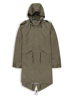 Duke Street Foundry Hooded Parka | Ivy Green | Ben Sherman