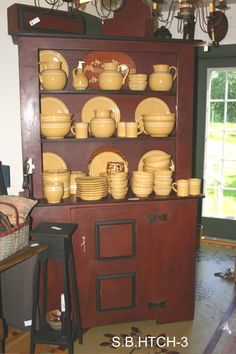 Cupboard with Yellowware