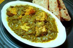Палак Панир - индийское блюдо из шпината