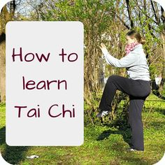 how to learn Tai Chi - Angelika showing a Tai Chi move