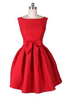 Modern-Day Audrey Hepburn Red Party/Wedding Dress