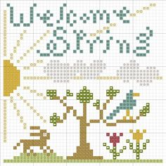 Welcome Spring, designed by @Beth Twist, from Heartstring Samplery.