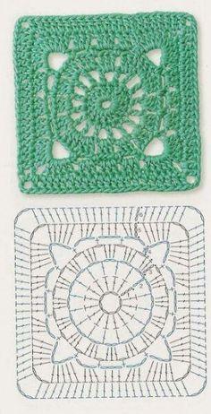 Cuadrado crochet