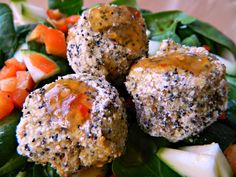 Spicy Lentil Balls with Poppy Seeds. (Vegan and accidentally gluten free!)