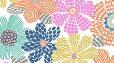 Floral Texture Flowers ~ Junebug Collection by Dear Stella by WeaveandWoven on Etsy