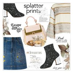 """""""Splatter Prints"""" by stranjakivana ❤ liked on Polyvore featuring Maison Margiela, See by Chloé, Alice + Olivia, Salvatore Ferragamo, Letter2Word, Christian Dior and Givenchy"""