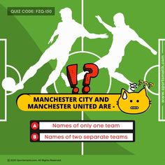 Do you consider yourself an avid #sports fan? Can you guess the correct Answer? Try it guys and challenge your friends too! For more interesting sports info, follow @Sportsmatik #quizzes #quiz #quiztime #quizmaster #quizz #quizoftheday #quizgame #questionandanswer #questions #questioneverything #questioning #freequestion #puzzel #puzzels #puzzelen #puzzles #puzzle #puzzletime #puzzlelover #puzzleaddict #pazzlefun #puzzlefeed #puzzlegame #quizcrack Manchester City, Manchester United, Sports Quiz, B Names, Question Everything, One Team, Quizzes, More Fun, Puzzle