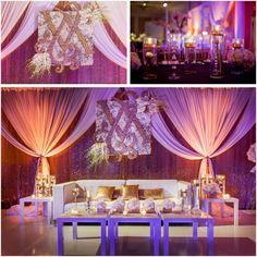 Chic and Modern Ballroom Reception at @Mandy Dewey Seasons Hotel Las Vegas  Photos: Lin & Jirsa Photography