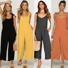 WAWAYA Womens Solid Sleeveless Ruffle Casual Belted Club Party Short Romper Jumpsuits