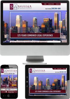 California Lawyer Anthony Spotora Website Design - Check out our newest portfolio designs at http://firstpageattorney.com/web-design-portfolio/