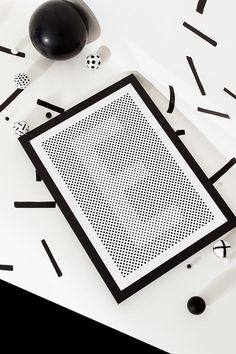 London-based graphic designer Silvia Baz created Typeworks, a series of visually stimulating prints of letters. When you're standing close, the black and white designs make the letters hard to see, but when you back away, they're much more apparent.