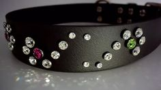 Swarovski Crystal Wide Dog Collar on Vimeo ~ Fuschia & Peridot Flourish