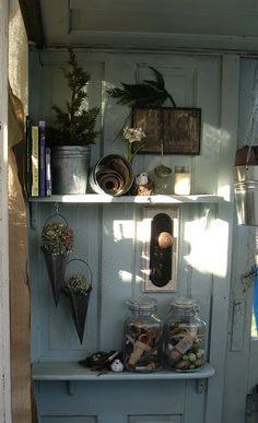 old door backing for shelves