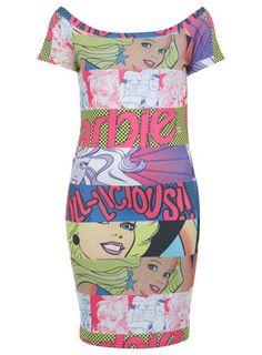 Comic Barbie Bardot Dress