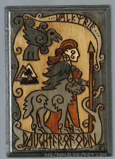 Valkyrie Daughter of Odin Wood Plaque Pyrography