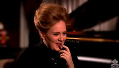 """Pin for Later: 21 Times Adele Made You Laugh So Hard That Your Stomach Hurt When She Admitted She Loves to Swear In June 2012, a giggly Adele sat down for an interview with Matt Lauer and joked about her constant swearing, saying she has a """"dirt mouth."""""""