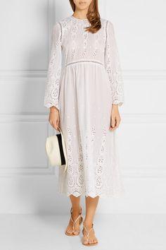 Zimmermann | Ticking broderie anglaise cotton dress | NET-A-PORTER.COM