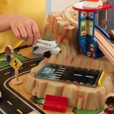 Imaginations Will Soar As Kids Explore The KidKraft Metropolis Train Table  Set.