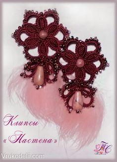 orecchine chiacchierino   Hobby lavori femminili - ricamo - uncinetto - maglia