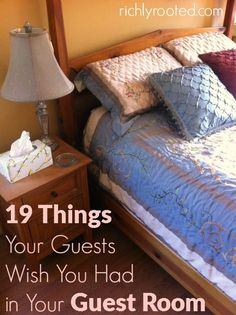 This is a great list of things to include in a guest room to make it warm and welcoming! When I have overnight guests, I like to make sure the guest room has everything they might need during their stay.