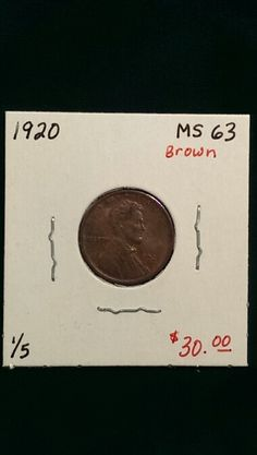 1920 Lincoln Cent MS63 Brown