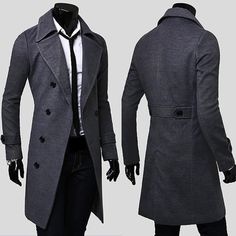 Men's Double Breasted Winter Trench Coat – Dropzone.co.nz