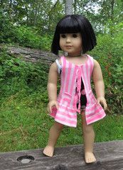 """18"""" doll swimsuit cover-up 