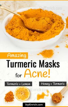 Turmeric Masks For Acne : How It is Benefitial for Acne? Turmeric Face Mask with Neem Leaves Neem leaves are filled with medicinal properties that are being used traditionally for skin infections and Natural Acne Remedies, Home Remedies For Acne, Pimples Remedies, Homeopathic Remedies, Belleza Diy, Diy Masque, Skin Care Routine For 20s, Best Teeth Whitening, Beauty Tips