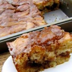 Cinnamon Roll Cake The taste and aroma of sweet cinnamon rolls in the form of a cake - a lot easier to make when you are in the mood for a quick fix!