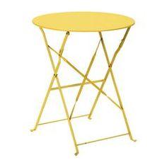 Giardino e terrazzo-Tavolo pieghevole giallo-34945351