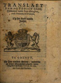 Translaet van het edict ende ordinantie vande ertz-hertoghen [...]. Op het ... - Raad van Vlaanderen - Google Books
