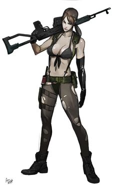 Metal Gear Solid Quiet, Metal Gear V, Metal Gear Games, Metal Gear Solid Series, Female Character Design, Game Character, Mgs V, Poses, Video Game Art